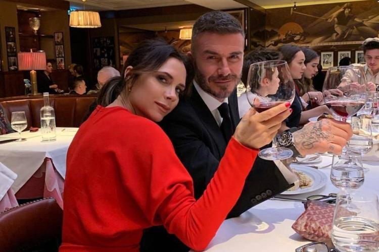 Victoria i David Beckhamowie