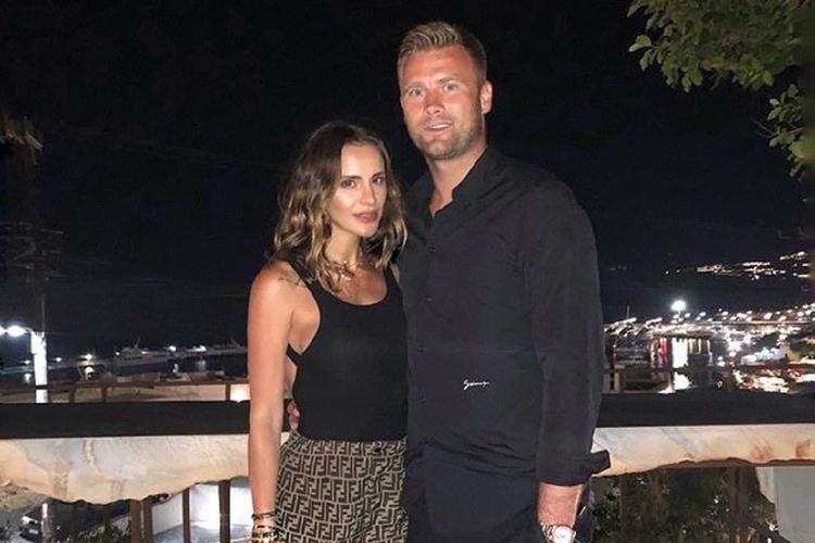 Sara Boruc z mężem