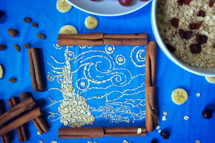Dziewczyna z perłą, Mona Lisa i Stworzenie Adama w wersji śniadaniowej