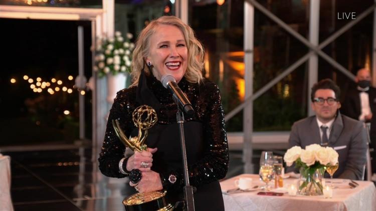 Emmy 2020 Catherine O'Hara Catherine O'Hara podczas Emmy 2020