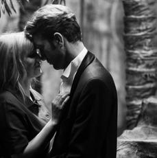 """Joanna Kulig i Tomasz Kot na czarno-białym zdjęciu z filmu """"Zimna wojna"""""""