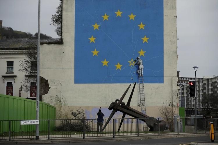 Banksy - zniszczono dzieło artysty.