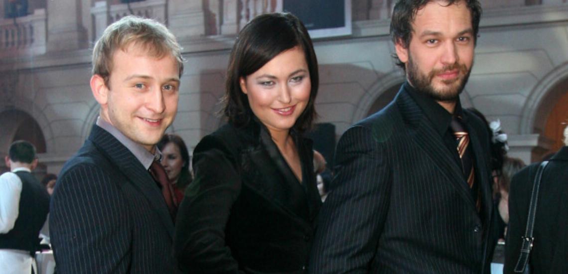 Borys Szyc, Beata Sadowska i Michał Żebrowski w 2005 roku na gali Viva! Najpiękniejsi
