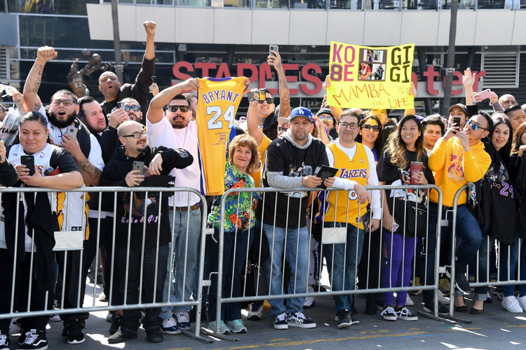 fani Kobego Bryanta Fani pożegnali Kobego Bryanta