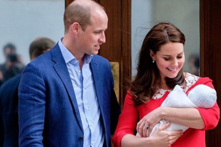 Książę William i księżna Kate z dzieckiem