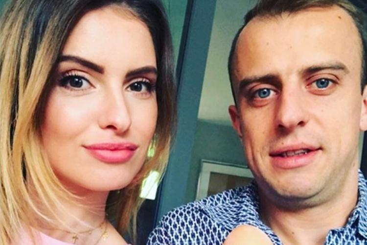 Dominika Grosicka i Kamil Grosicki w swoim domu