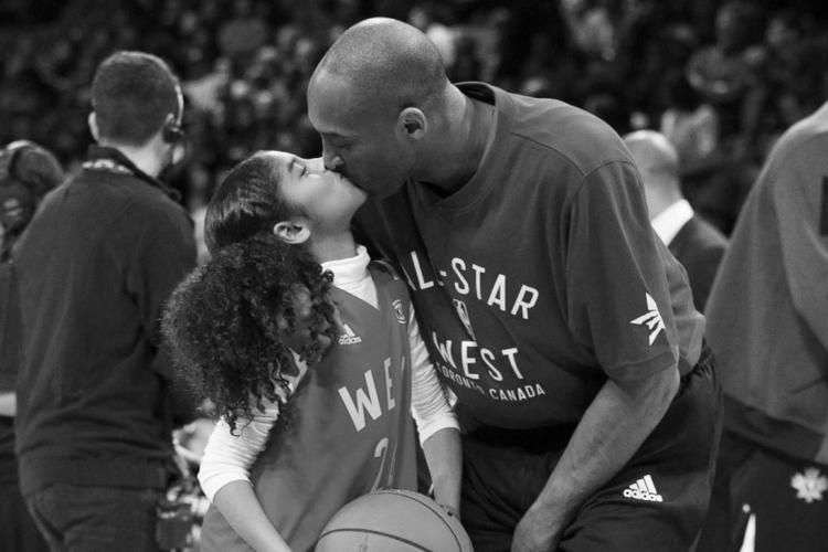 Kobe Bryant i Gianna Bryant razem na meczu koszykówki
