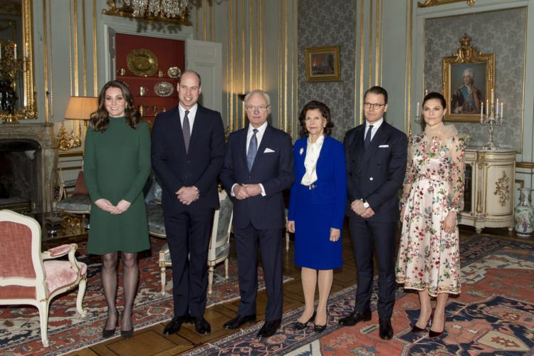 Król Szwecji, księżna Kate i książę William