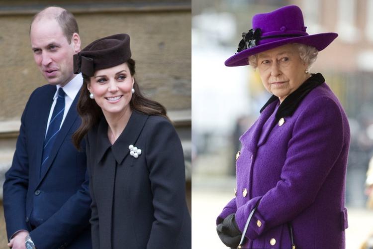 Książę William, księżna Kate, królowa Elżbieta II