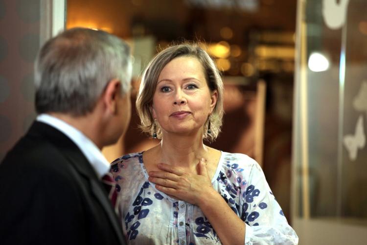 """Hanna Dunowska na planie serialu TVP """"Barwy szczęścia"""""""