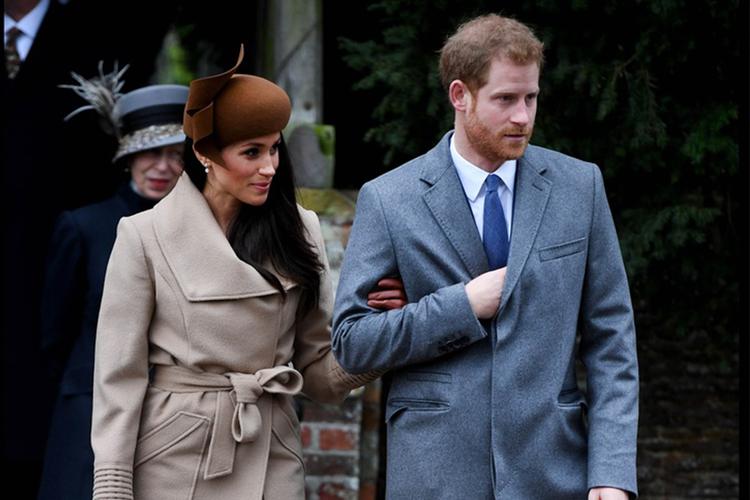 Książę Harry i Meghan Markle podczas Świąt
