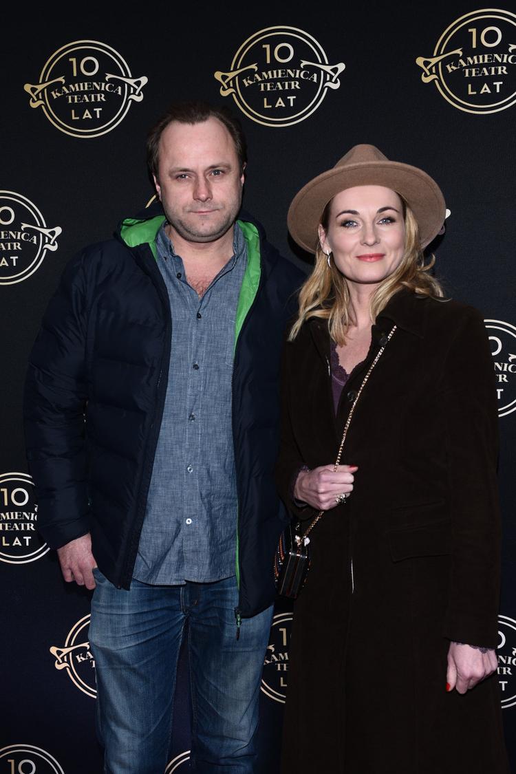 Leszek Lichota z żoną Leszek Lichota i Ilona Wrońska