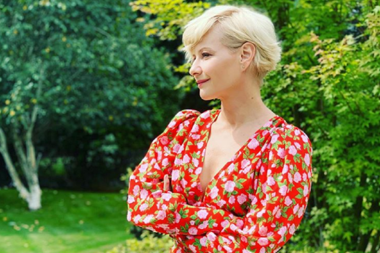 Małgorzata Kożuchowska na zdjęciu sprzed lat.
