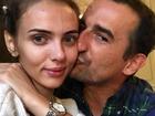 Marcela Leszczak i Michał Koterski całujący ją w policzek