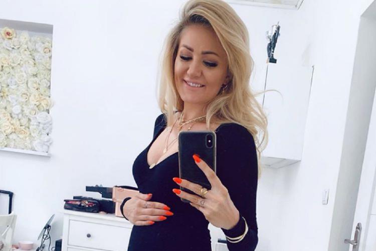 Ewa Mrozowska w ciąży.