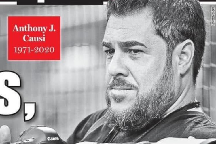 """Okładka """"New York Post"""" z informacją o śmierci Anthony'ego Causi"""