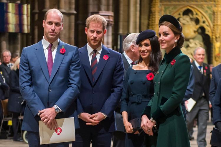Książę William, książę Harry, księżna Meghan i księżna Kate na wspólnym koncercie