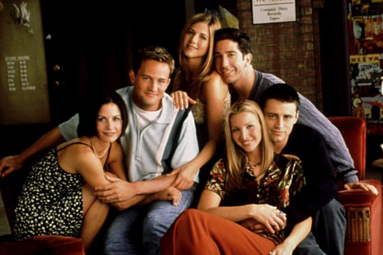 """Przyjaciele"" 1999: Courteney Cox, Matthew Perry, Jennifer Aniston, David Schwimmer, Lisa Kudrow, Matt LeBlanc"