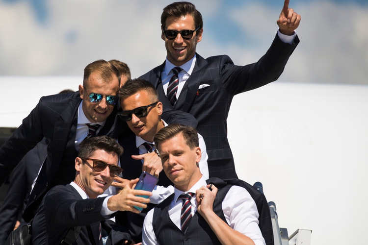 Polska reprezentacja: Robert Lewandowski, Wojciech Szczęsny, Kamil Grosicki, Sławomir Peszko, Grzegorz Krychowiak