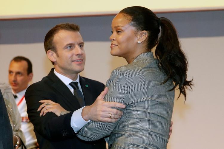 Rihanna i Emmanuel Macron