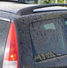 pył saharyjski na karoserii samochodu