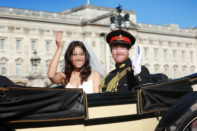 Ślub sobowtórów Meghan Markle i księcia Harry'ego