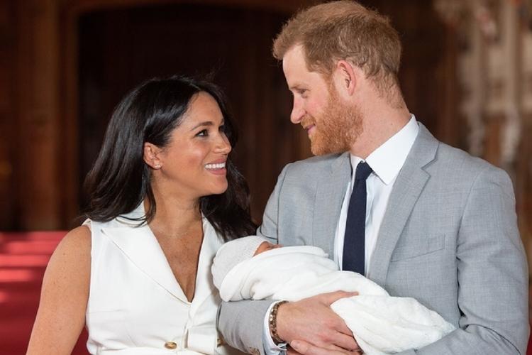 Księżna Meghan, książę Harry i Archie