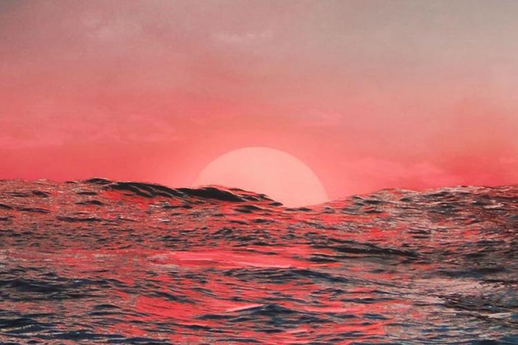 zachód słońca z instagrama