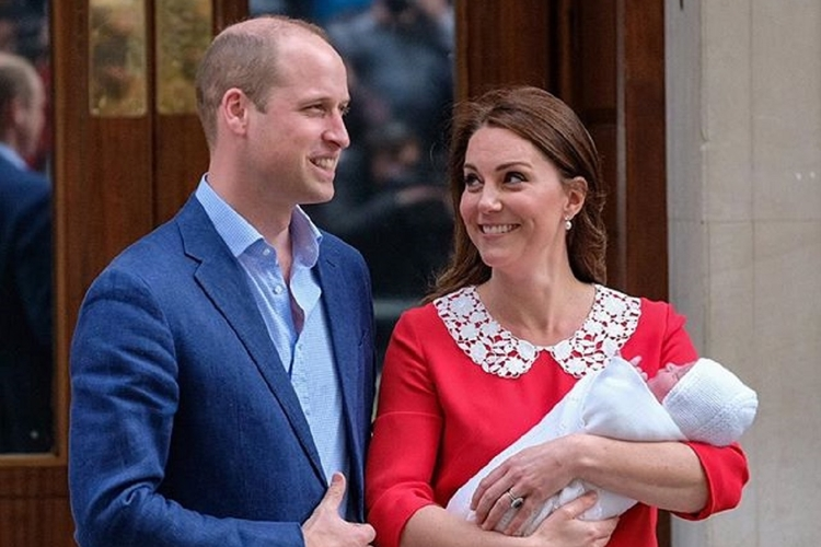 Książę William, księżna Kate i książę Louis