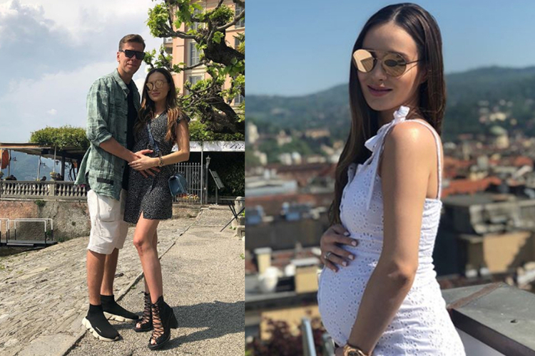 Wojciech Szczęsny i ciężarna Marina na wakacjach