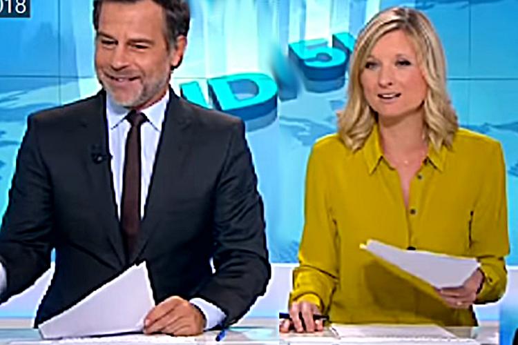 francuska prezenterka Karine de Menonville na wizji