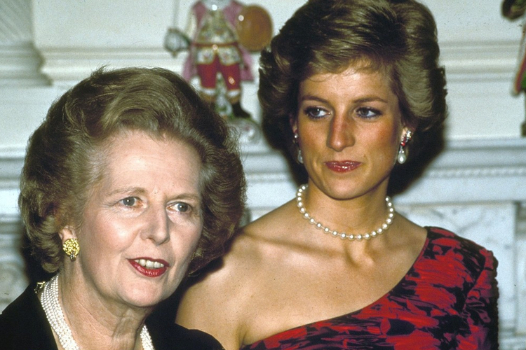 księżna Diana i Margaret Thatcher