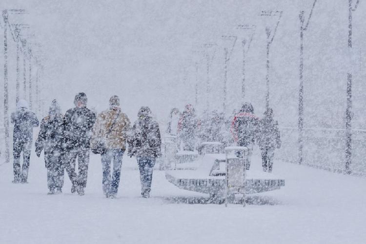 Ludzie w śniegu