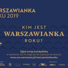 Rozpoczęła się druga edycja plebiscytu Warszawianka Roku 2019