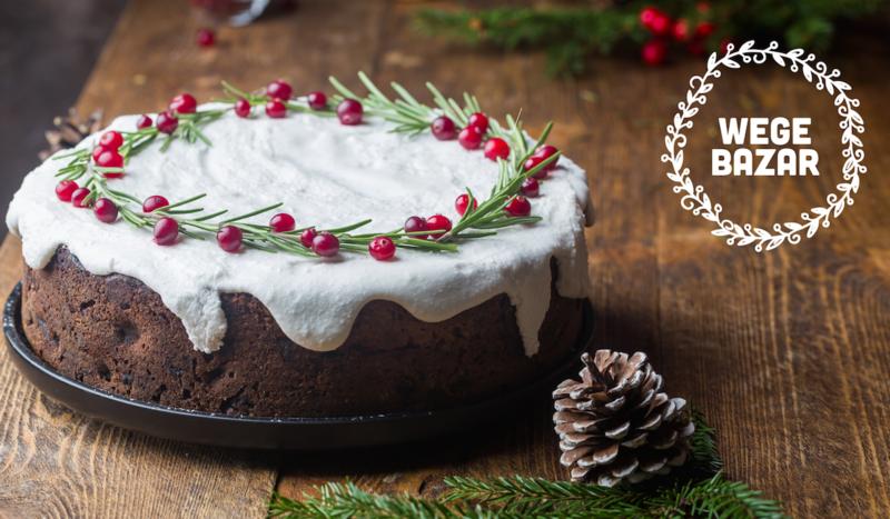 Wegańskie ciasto świąteczne